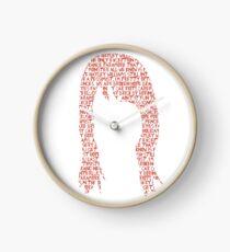 Hayley Williams hair word cloud Clock