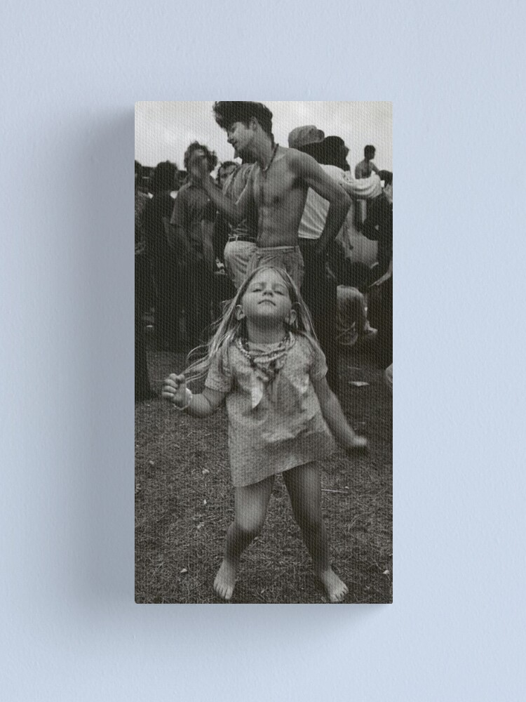 Alternate view of little girl dancing at woodstock Canvas Print