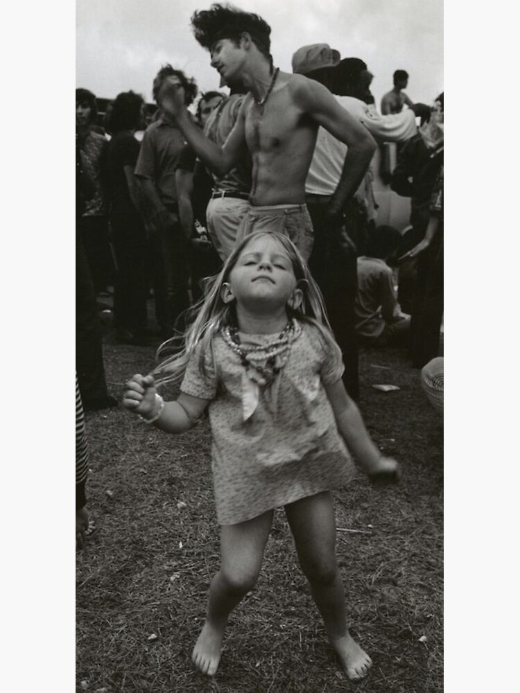 little girl dancing at woodstock by eurodads