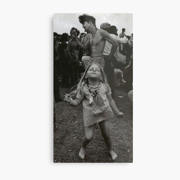 little girl dancing at woodstock Metal Print