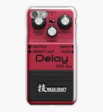 Boss Pedal Series - Red - Delay iPhone Case/Skin