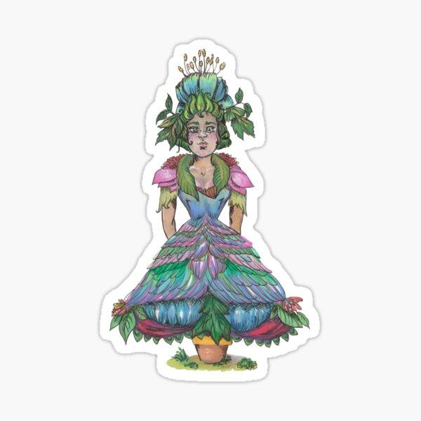 blooming flowerpot femme Sticker