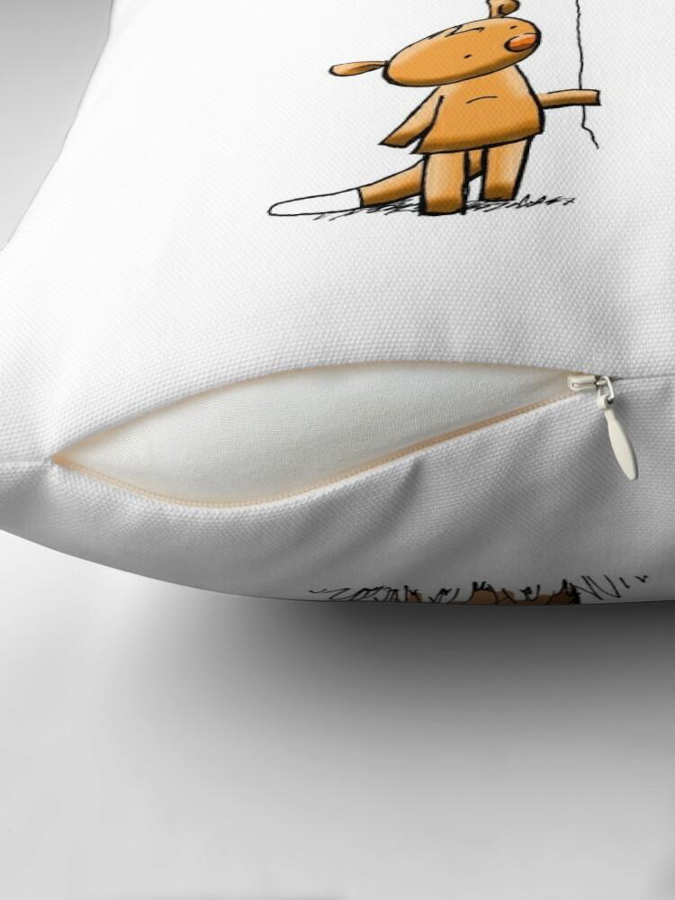 Alternate view of Valentine Possums Throw Pillow