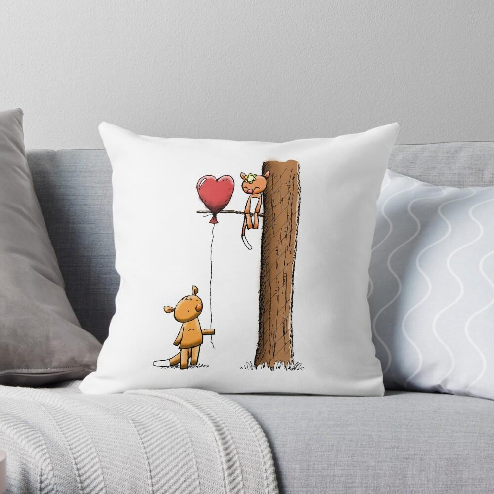 Valentine Possums Throw Pillow
