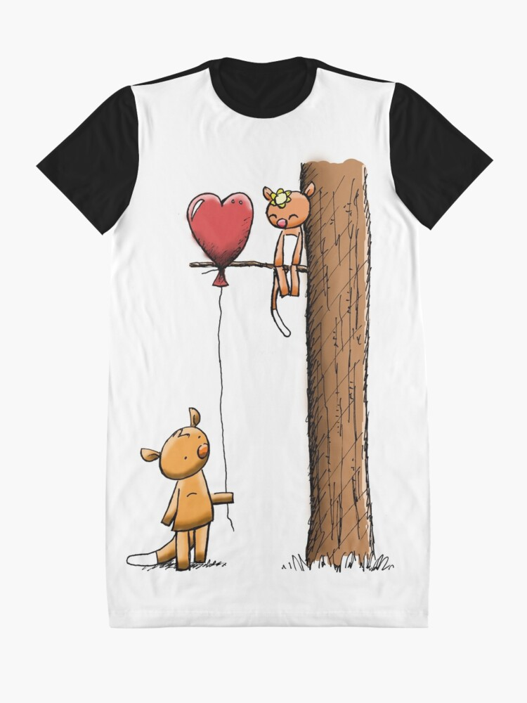 Alternate view of Valentine Possums Graphic T-Shirt Dress