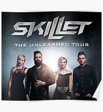 Skillet The Unleashed Tour 2017  Poster