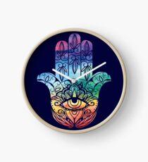 Spiritual Hamsa Hand Clock