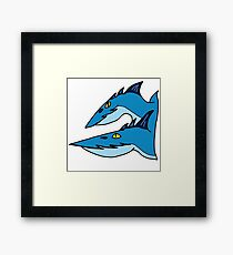 Minimalist Dragons: Seashocker Framed Print