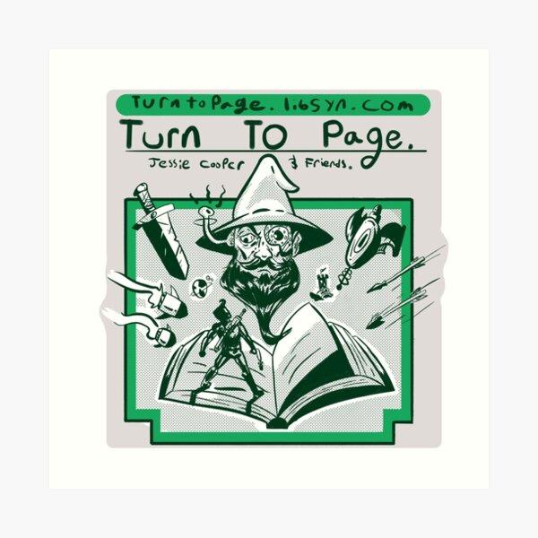 Turn to Page Artwork Art Print