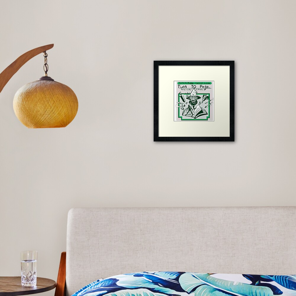 Turn to Page Artwork Framed Art Print