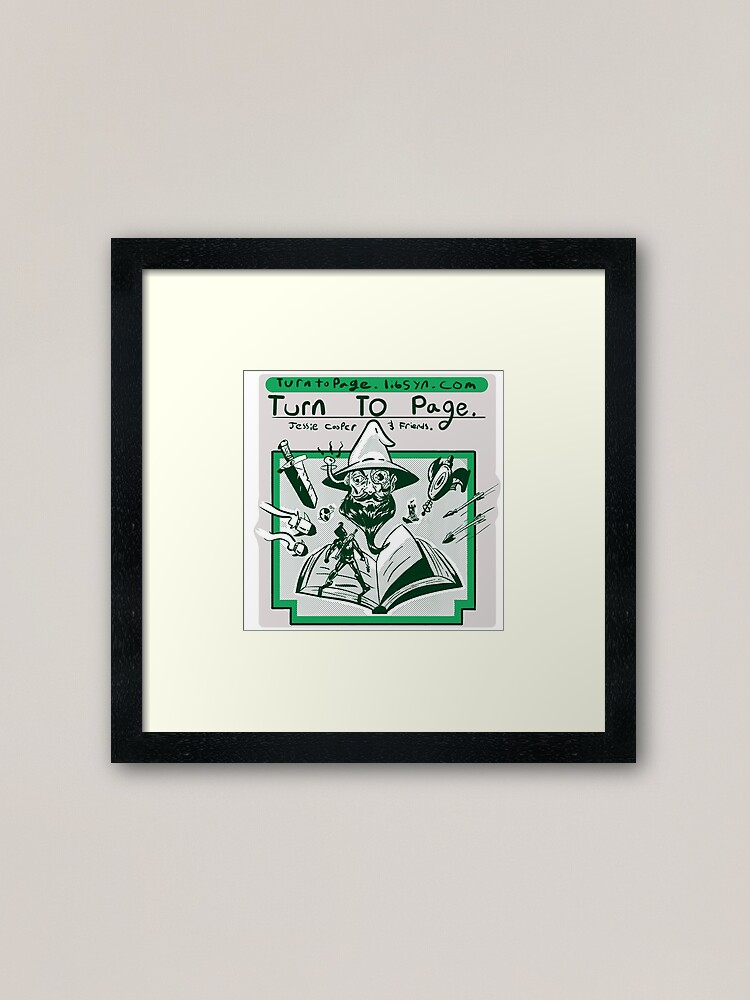 Alternate view of Turn to Page Artwork Framed Art Print