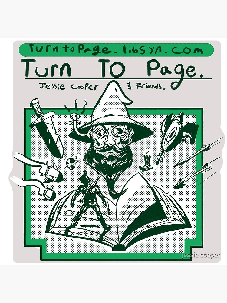 Turn to Page Artwork by Jessiepodcasts