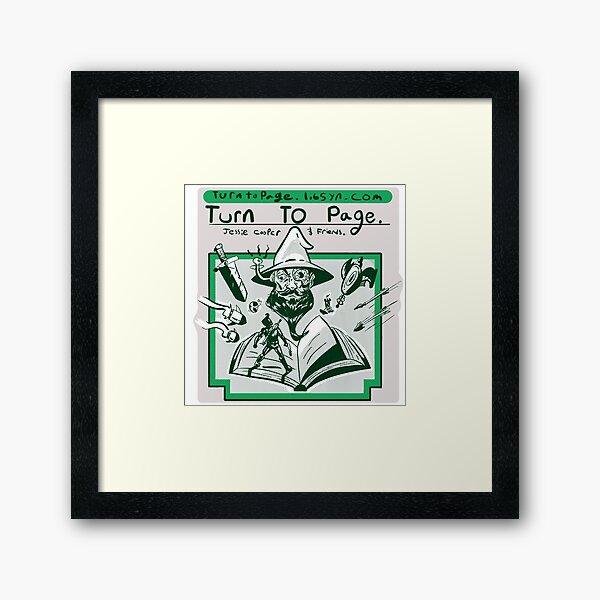 Turn to Page Artwork Framed Art Print
