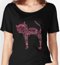 Pussy Grabs Back Kitty Cat - pink word mosaic Women's Relaxed Fit T-Shirt