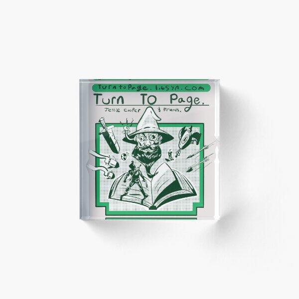 Turn to Page Artwork Acrylic Block