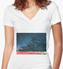 Dusk Women's Fitted V-Neck T-Shirt