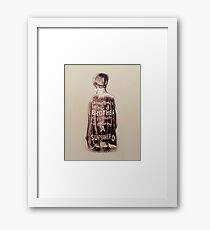 Sometimes Being a Brother is Better than Being a Super Hero Illustration Framed Print