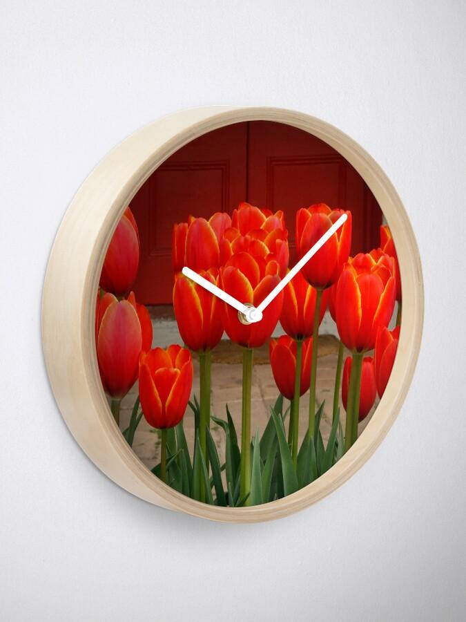 Alternate view of Tulips at My Door Clock