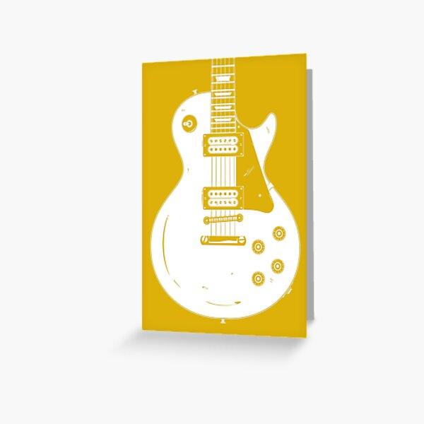 Les Paul Gold Top Greeting Card