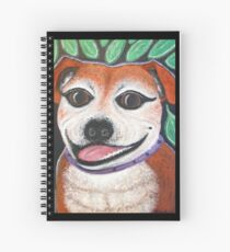 Gracie May Staffy Dog under the lime tree Spiral Notebook