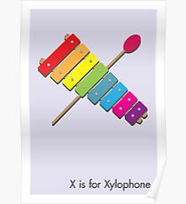 Xylophone Dessin Posters Redbubble
