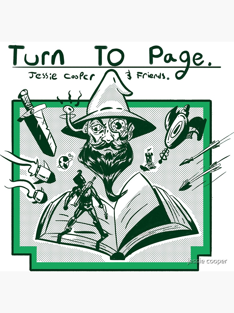 Turn to Page show art by Jessiepodcasts