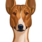 Basenji Caricature by Char Reed