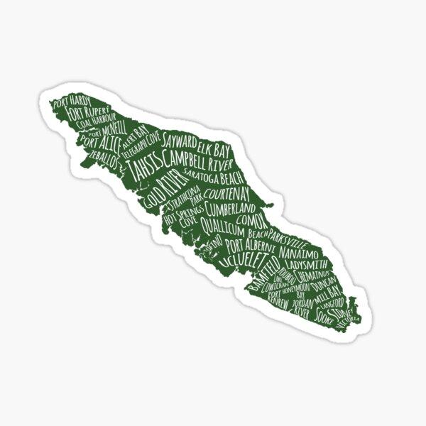 Vancouver Island Cities 2 Sticker