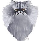 Persian Cat Caricature by Char Reed