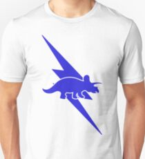 Triceratops Blue Lightning Bolt Unisex T-Shirt