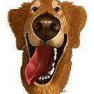 Golden Retriever Caricature by Char Reed