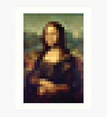 Mona Lisa Pixeled Art Print