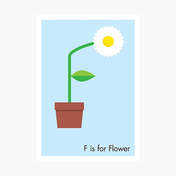 F is for Flower Photographic Print