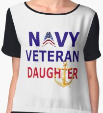 Navy Veteran's Daughter  Chiffon Top