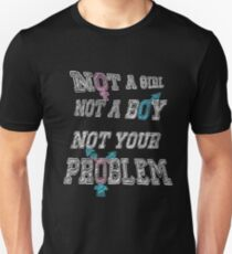 Nonbinary Trans Pride - Black T-Shirt