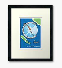 C is for Compass Framed Print