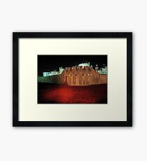 Poppies at the Tower of London - At Night #2 Framed Print