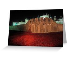Poppies at the Tower of London - At Night #2 Greeting Card