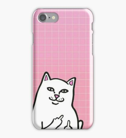 Middle Finger Cat iPhone Case/Skin
