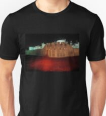Poppies at the Tower of London - At Night #2 Unisex T-Shirt