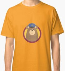 Police Officer Brown Bear in cirlce Classic T-Shirt