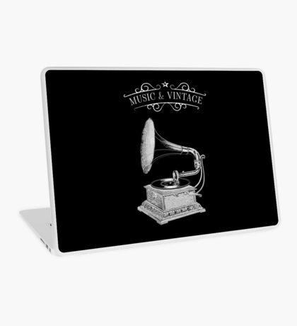 Music & Vintage Laptop Skin