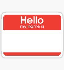 Hallo Ich heisse Sticker