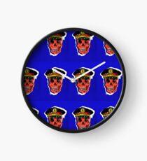 Skull Cop Clock