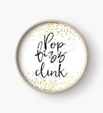 Pop Fizz Clink Sign,Gold confetti Bridal Shower,bubbly bar sign, download sign, Wedding Signs, Wedding Signage, Gold foil Clock