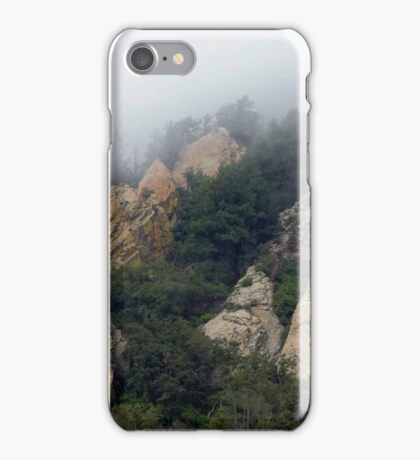 11 Mt Graham Fog Cliff iPhone Case/Skin