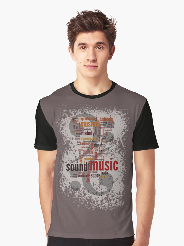 Sound Music Graphic T-Shirt Front