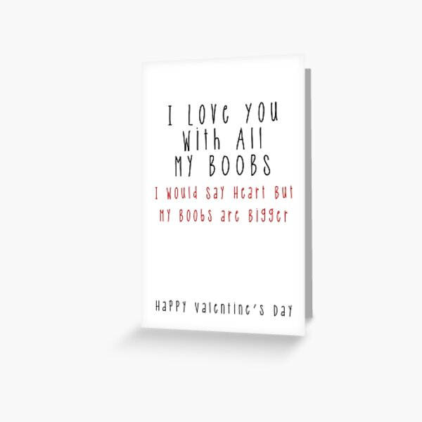 Ugly Girlfriend Valentines Valentine/'s Card Funny Rude Humour Profanity