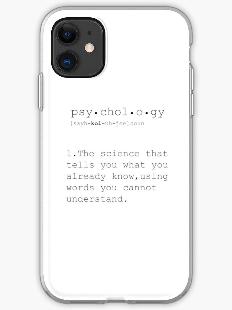 Psychology Psychology Gifts Psychology Definition Funny Definition Minimalist Poster Quotes Print Funny Quotes Dictionary Art Print Iphone Case
