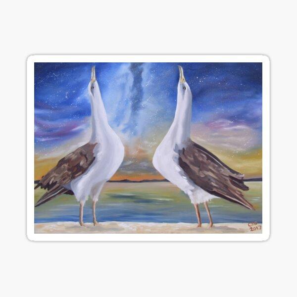 Laysan Albatross Waltz Sticker